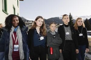 Vanessa Nakate, Luisa Neubauer, Greta Thunberg, Isabelle Axelsson and Loukina Tille: