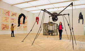 The 'marvellous' Louise Bourgeois room in the Switch House extension.