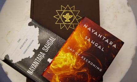 Books by Indian writer Nayantara Sahgal, who is among the writers to return awards from the Sahitya Akademi