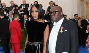 Naomi Campbell with Edward Enninful.