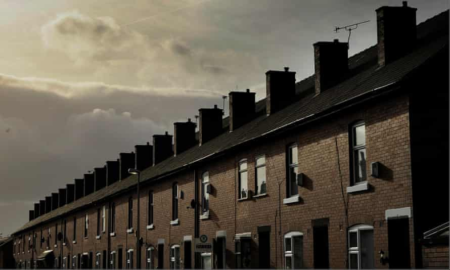 Terraced houses in Leigh, Greater Manchester