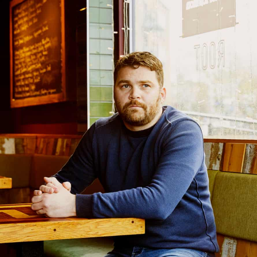 Chef Josh Eggleton photographed at Root, Wapping Wharf, Bristol