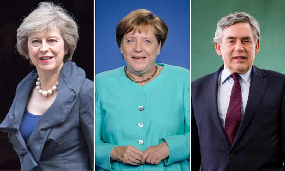 Theresa May, Angela Merkel and Gordon Brown all had parents who were ministers in the church.