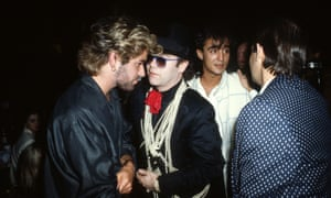 'He was a true star': George Michael with Elton John and Andrew Ridgeley in London in 1985