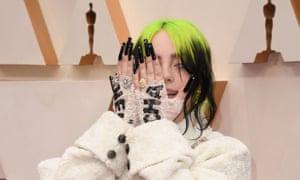 US singer-songwriter Billie Eilish arrives for the 92nd Oscars