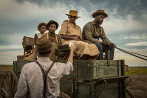 Mary J Blige and Rob Morgan in a scene from Rees's film Mudbound.