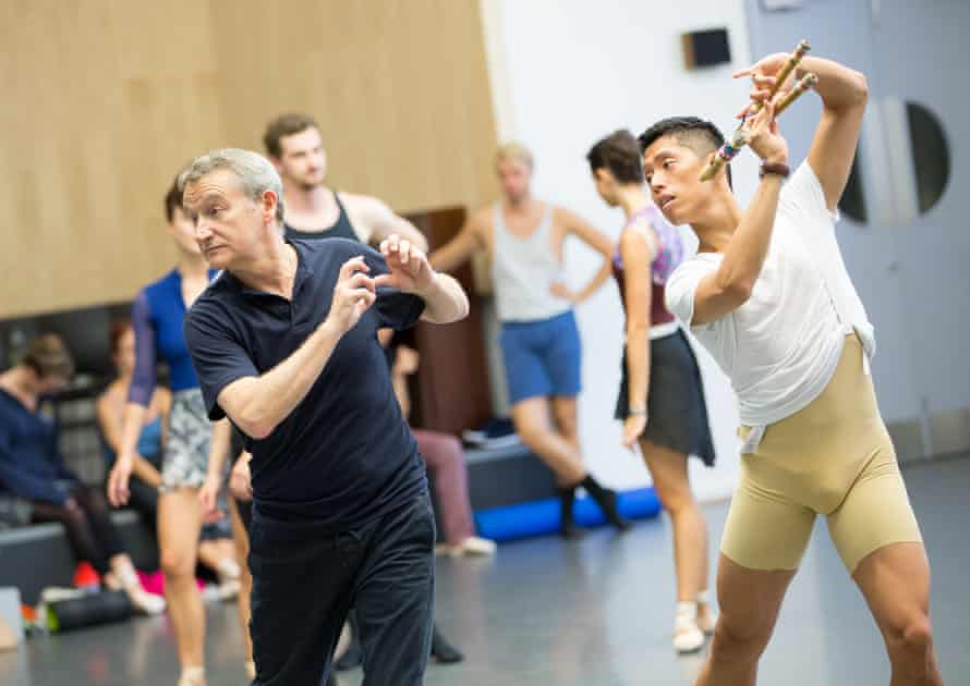 David Bintley, left, in rehearsals for The Tempest at Birmingham Royal Ballet.
