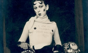 Part of Claude Cahun's Self Portrait (as weight trainer), 1927.
