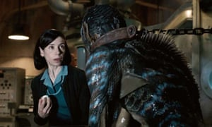 Sally Hawkins and Doug Jones in The Shape of Water, directed by Guillermo del Toro.