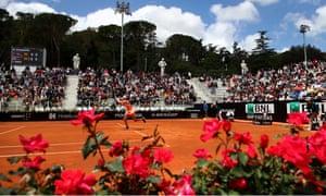 Johanna Konta beat Magdalena Rybarikova in her first-round match in the Italian Open.