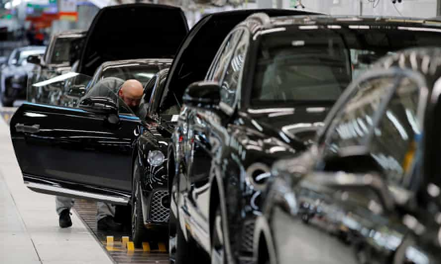 Bentley production line at its factory in Crewe