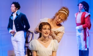 Grace Molony and Paksie Vernon in the Chichester production of The Watsons by Laura Wade.