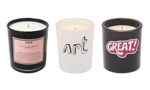 Scented candles by Boy Smells, Bella Freud and Anya Hindmarch.