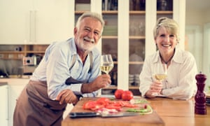 An image of an older couple used by the company in its marketing