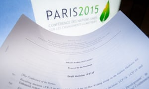 The intervention comes two days before the US and China are expected to give the Paris agreement a major boost by formally submitting their ratification of the accord with the UN.