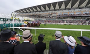 The stalls open for the Queen's Vase at Royal Ascot on Wednesday.