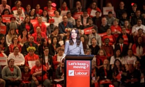 Jacinda Ardern launches her election campaign in front of Labour Party faithful in Auckland, New Zealand, on Saturday.