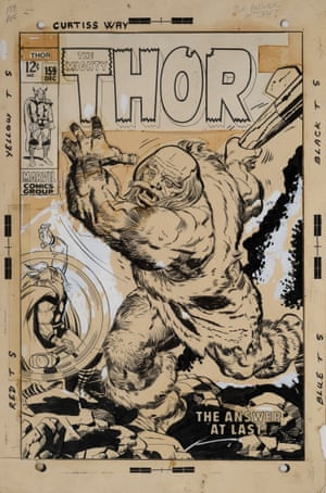 From bedroom wall to auction hall: rare Thor comic art goes on sale