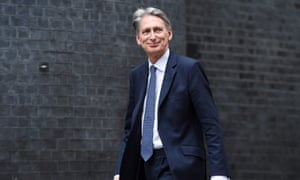 Philip Hammond arrives at Downing Street.