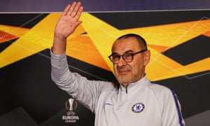 Maurizio Sarri and Chelsea will attempt to reach the Europa League final on Thursday, with the tie 1-1 after the first leg in Frankfurt last week.