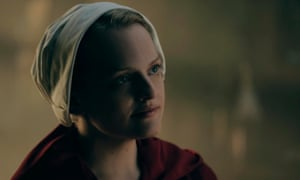 Offred lives from one micro-mutiny to another, collecting them like precious stones … Elisabeth Moss as Offred in The Handmaid's Tale.