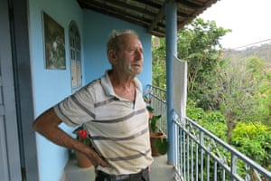 Ivaldil de Souza, 73, on his veranda