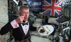 Tim Peake eats Blumenthal's menu on board the International Space Station