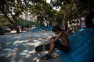 The new skate park is nestled among trees on a busy road in the north of the city. The project raised $20,000 through crowdfunding, and was built in two weeks by a team of international volunteers and Myanmar labourers.