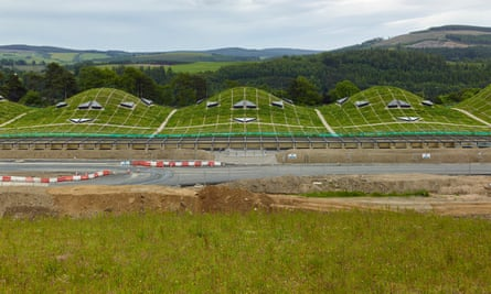 Theatrical spectacle … the Macallan distillery in Craigellachie, Moray, by Rogers Stirk Harbour + Partners.