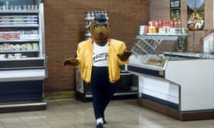 George the Bear appears on the Benny Hill Show.