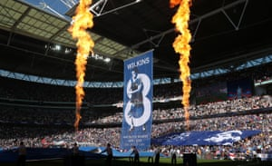 A Chelsea banner celebrating the late Ray Wilkins.