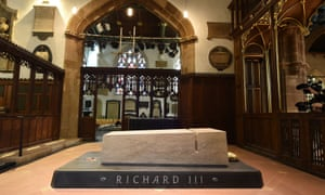 The stone tomb of Richard III in Leicester Cathedral