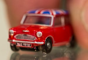 Die-cast models on display at Oxford Diecast at the 2014 Toy Fair at Kensington Olympia