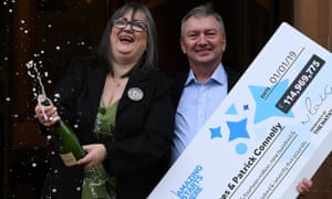 Lottery winners to share £115m prize with family and friends | UK