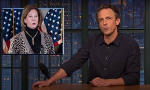 Seth Meyers on now-disavowed Trump lawyer and conspiracy peddler Sidney Powell: 'If you thought Rudy was bonkers, this lady is crazier than a cereal mascot.'