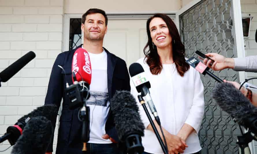Prime Minister Jacinda Ardern with her partner Clarke Gayford, who has faced unprecedented scrutiny.