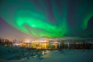 The northern lights over Tromsø.