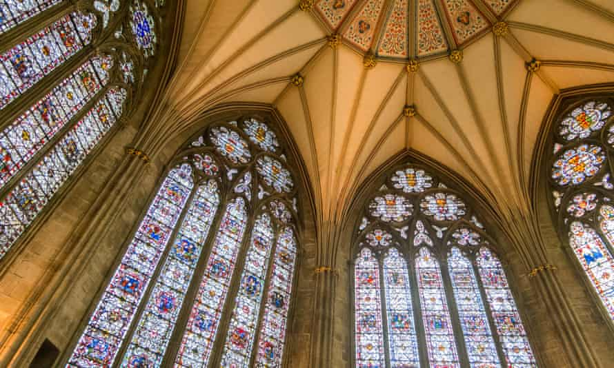 Stained glass windows at York Minster