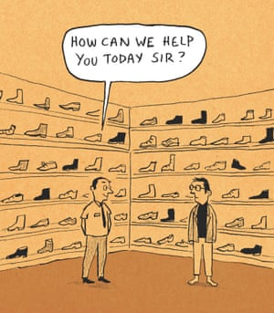 Berger & Wyse on shoes – cartoon