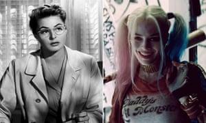 Ingrid Bergman in Spellbound and Margot Robbie in Suicide Squad