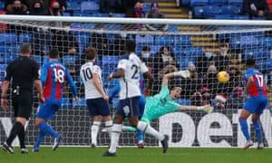 Guaita makes a save from Kane