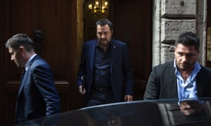Matteo Salvini, the leader of Italy's far-right League party