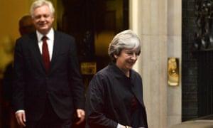David Davis behind Theresa May