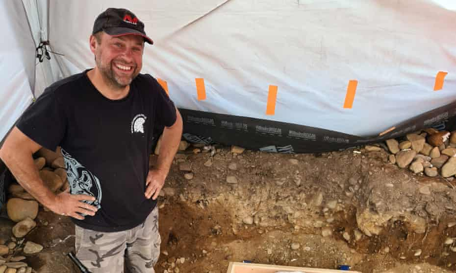 Mariusz Stepien at the site near Peebles where he made the first find.