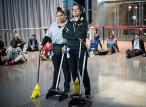 Staff at the Jacob K. Javits Convention Center are unimpressed by what they see
