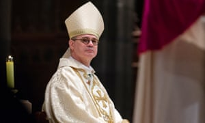 Archbishop Peter Comensoli at a mass at St Patrick's Cathedral in Melbourne
