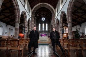 Pastor Mick Fleming and Father Alex Frost, photographed at St Matthew's Church in Burnley.
