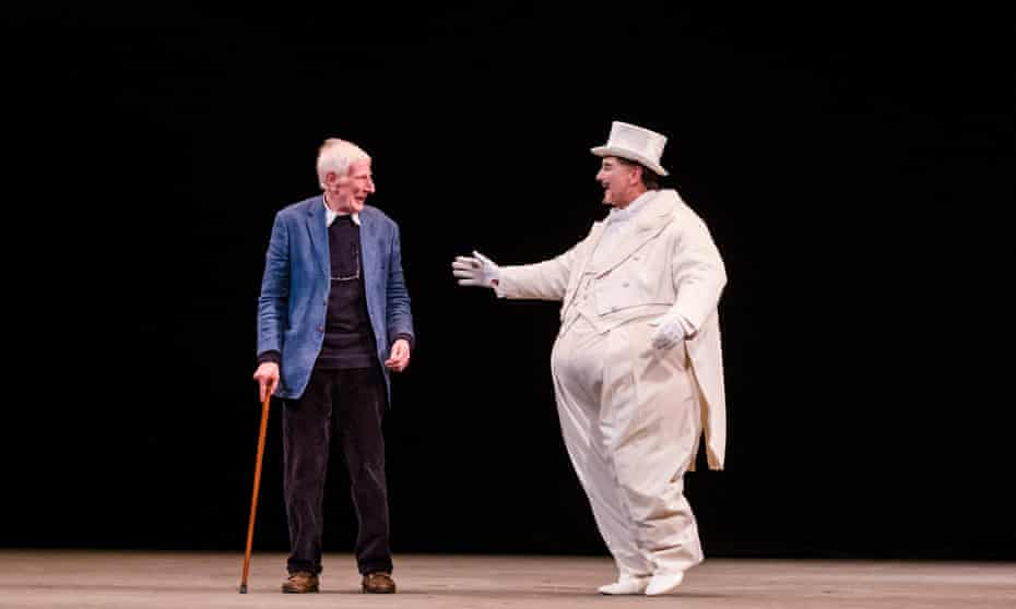 Jonathan Miller and Mark Richardson (The Mikado) in Marvellous Miller, a 2016 celebration of the director's phenomenal contribution to the English National Opera.