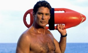 The Hoff in the original small-screen Baywatch