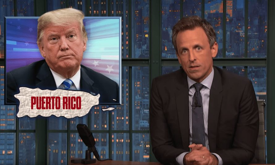 'Now we know why he's so orange, his brain is just melted pumpkin guts' ... Seth Meyers